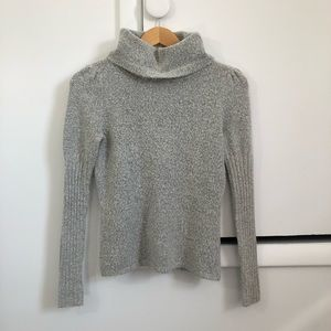 Vintage JH Collectibles Grey Turtleneck Sweater PM
